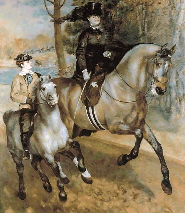 A morning ride in the bois de boulogne 1873 xx kunsthalle hamburg